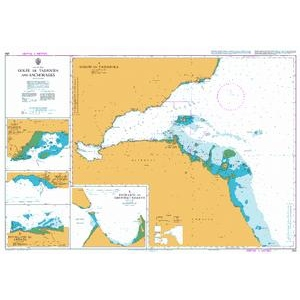 British Admiralty Nautical Chart 253 Golfe de Tadjoura and Anchorages