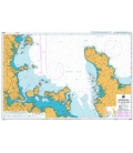 British Admiralty New Zealand Nautical Chart NZ532 Approaches to Auckland