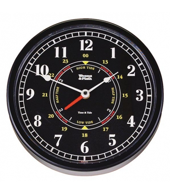 "Trident Time & Tide Clock (10"" Black Dial)"
