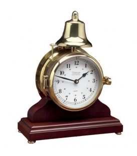Victory Bell Clock & Wood Base