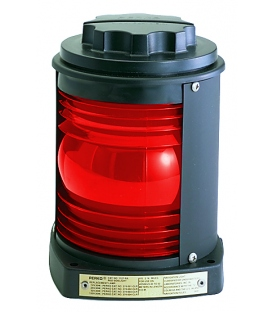 Single Lens Navigation Light - Red Light 1127 (Black Plastic)