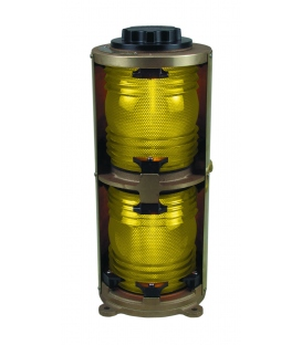 Double Lens Navigation Light 1166 - Yellow Towing Light (Heavy Duty Cast Bronze)