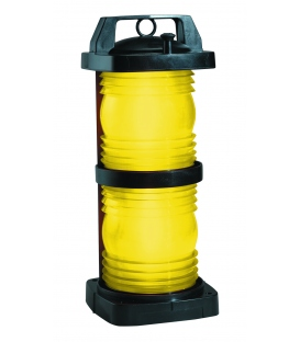 Double Lens Navigation Light 1366 - Yellow Towing Light (Black Plastic)