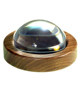 64mm (2.5 inch) Magnabrite® Magnifier with Round Walnut Base