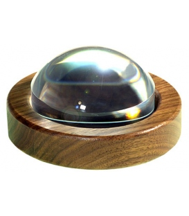 89mm (3.5 inch) Magnabrite® Magnifier with Round Walnut Base