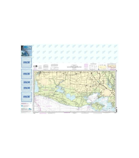 NOAA Chart 11345 Intracoastal Waterway New Orleans to Calcasieu River West Section