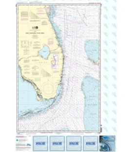 NOAA Chart 11460 Cape Canaveral to Key West