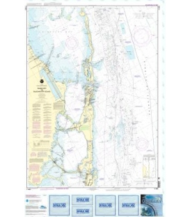 NOAA Chart 11463 Intracoastal Waterway Sands Key to Blackwater Sound