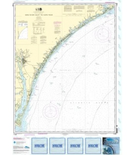 NOAA Chart 11539 New River Inlet to Cape Fear