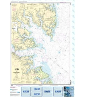 NOAA Chart 12238 Chesapeake Bay Mobjack Bay and York River Entrance