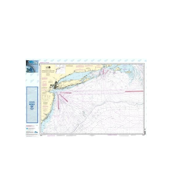 NOAA Chart 12300 Approaches to New York, Nantucket Shoals to Five Fathom Bank