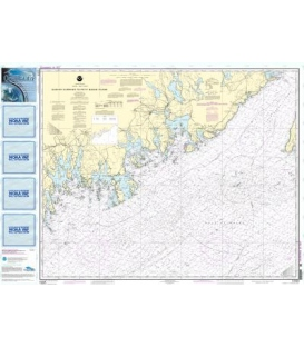 NOAA Chart 13325 Quaddy Narrows to Petit Manan lsland