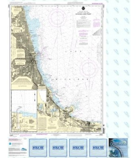 NOAA Chart 14927 Chicago Lake Front - Gary Harbor