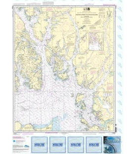 NOAA Chart 17420 Hecate Strait to Etolin Island, including Behm and Portland Canals
