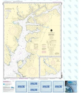 NOAA Chart 17422 Behm Canal-western part - Yes Bay