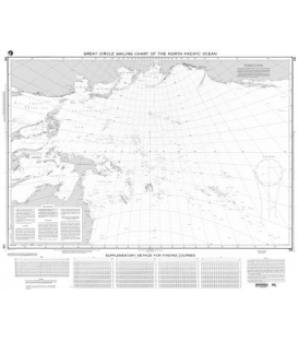 NGA Chart 56 Great Circle Sailing Chart of the North Pacific Ocean