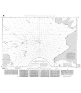 NGA Chart 63 Great Circle Sailing Chart of the South Pacific Ocean