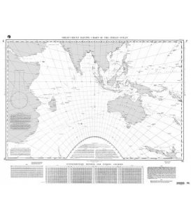 NGA Chart 74 Great Circle Sailing Chart of the Indian Ocean