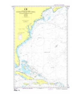 NGA Chart 108 Southeast Coast of North America including the Bahamas and Greater Antilles