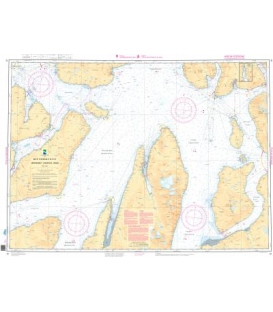 Norwegian Nautical Chart 91 Grotsundet - Lyngstuva - Kagen
