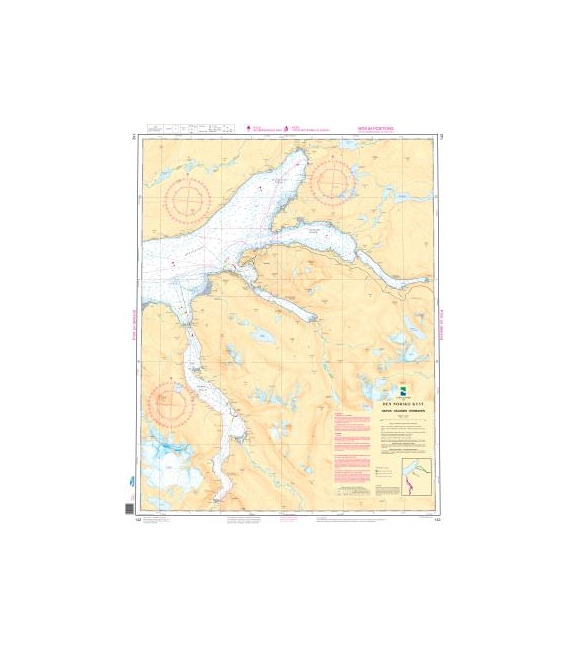Norwegian Nautical Chart 142 Narvik - Skjomen - Rombaken