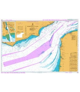 British Admiralty Instructional Chart 5046 English Channel - Newhaven to Calais