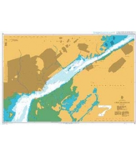 British Admiralty Nautical Chart 14 Cebu Harbour