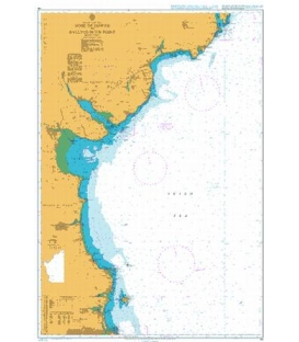 British Admiralty Nautical Chart 44 Nose of Howth to Ballyquintin Point