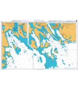 British Admiralty Nautical Chart 53 Pitea and Lulea