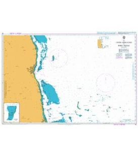 British Admiralty Nautical Chart 82 Outer Approaches to Port Sudan