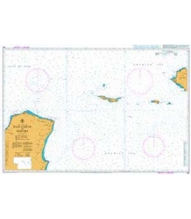 British Admiralty Nautical Chart 100 Raas Caseyr to Suqutra