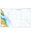 British Admiralty Nautical Chart 107 Approaches to the River Humber