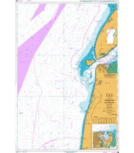 British Admiralty Nautical Chart 126 Approaches to Den Helder