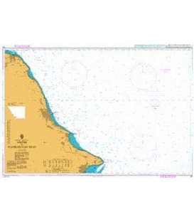 British Admiralty Nautical Chart 129 Whitby to Flamborough Head