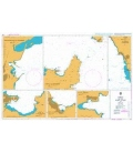 British Admiralty Nautical Chart 131 Ports on the West Coast of Italy