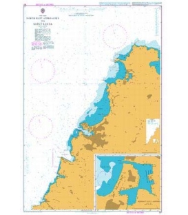 British Admiralty Nautical Chart 197 North West Approaches to Saint Lucia
