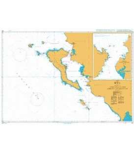British Admiralty Nautical Chart 205 Approaches to Nisos Kerkyra and Nisoi Paxoi