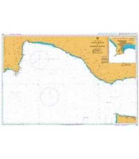 British Admiralty Nautical Chart 237 Taslik Burnu to Anamur Burnu