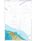 British Admiralty Nautical Chart 241 Outer Approaches to Port Said (Bur Sa`id)