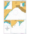 British Admiralty Nautical Chart 242 Antalya and Tasucu with Approaches