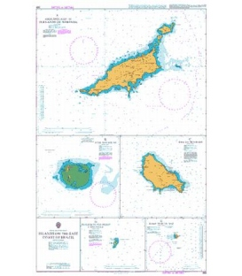 British Admiralty Nautical Chart 388 Islands off the East Coast of Brazil