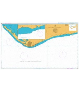 British Admiralty Nautical Chart 390 Approaches to Freeport