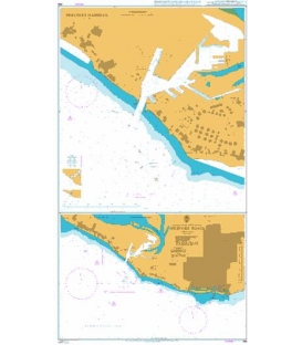 British Admiralty Nautical Chart 398 Freeport Roads