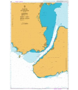 British Admiralty Nautical Chart 436 Canal de Sao Sebastiao