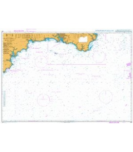 British Admiralty Nautical Chart 442 Lizard Point to Berry Head