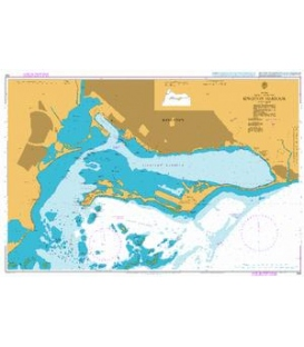 British Admiralty Nautical Chart 454 Kingston Harbour