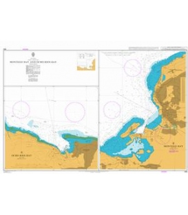 British Admiralty Nautical Chart 464 Montego Bay and Ocho Rios Bay