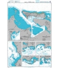 British Admiralty Nautical Chart 478 Ports in Puerto Rico