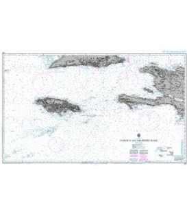 British Admiralty Nautical Chart 486 Jamaica and the Pedro Bank