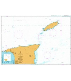British Admiralty Nautical Chart 500 North East Approaches to Trinidad